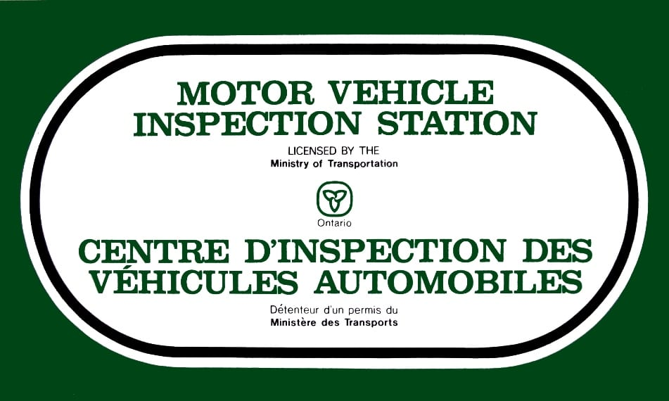 Ontario Motor Vehicle Inspection Station