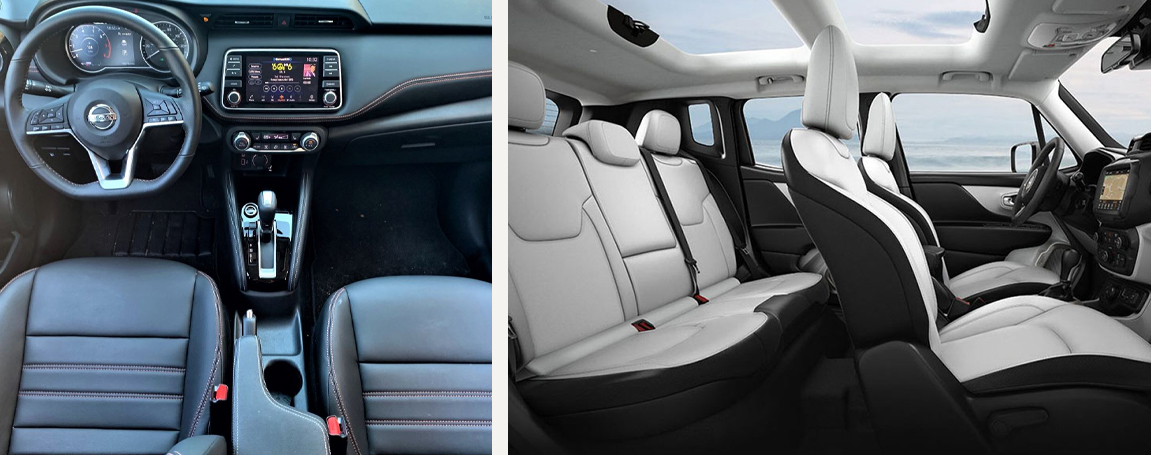 Nissan Kicks vs Kia Soul Interior view