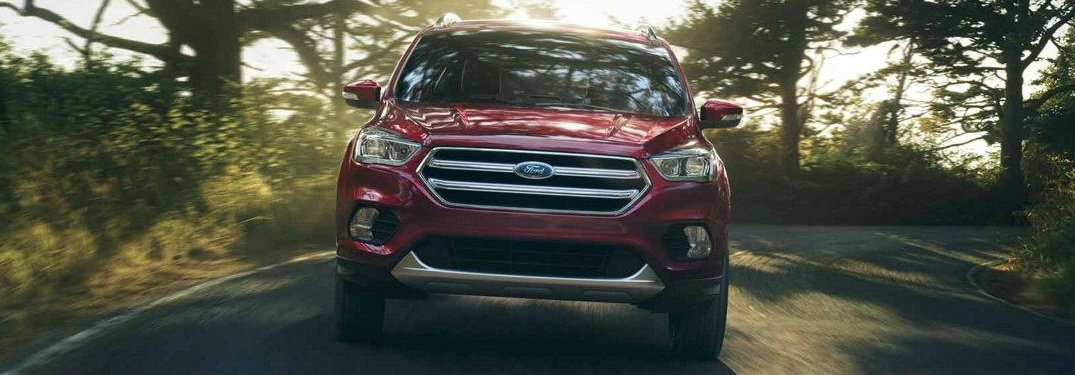 Red-2018-Ford-Escape-Driving-Through-a-Forest_o