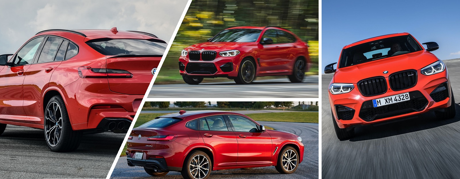 2020 BMW X4 M Exterior Design: front look, side look and back view