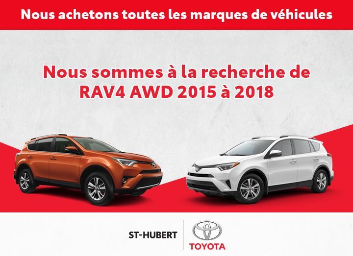 St-Hubert Toyota Recherche RAV4 AWD