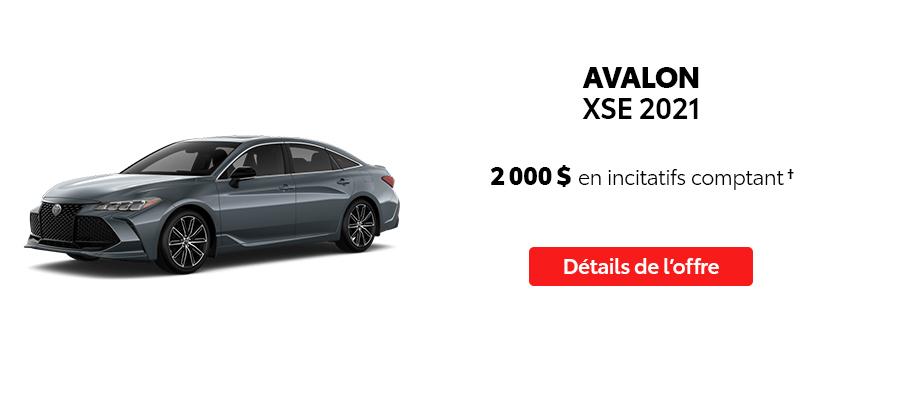 St-Hubert Toyota Repartez En Toyota Septembre 2021 Avalon XSE 2021