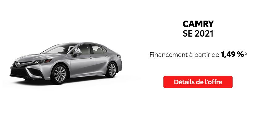 St-Hubert Toyota Repartez En Toyota Septembre 2021 Camry SE 2021