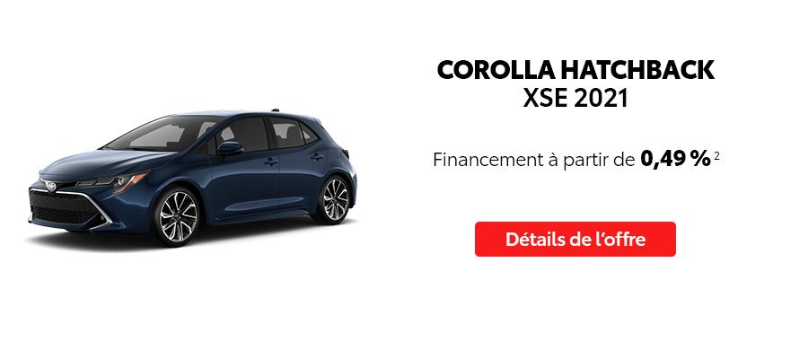 St-Hubert Toyota Repartez En Toyota Septembre 2021 Corolla Hatchback XSE 2021