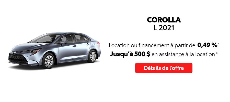 St-Hubert Toyota Repartez En Toyota Septembre 2021 Corolla L 2021