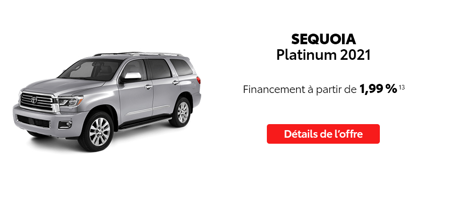 St-Hubert Toyota Repartez En Toyota Septembre 2021 Sequoia Platinum 2021