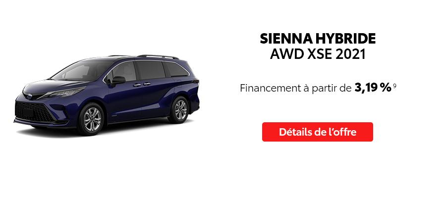 St-Hubert Toyota Repartez En Toyota Septembre 2021 Sienna Hybride AWD XSE 2021