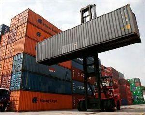 Shipping yard.